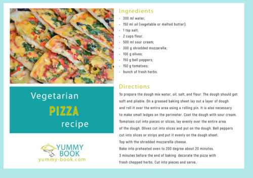 vegetarian pizza recipe easy