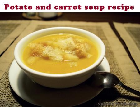 potato and carrot cream soup