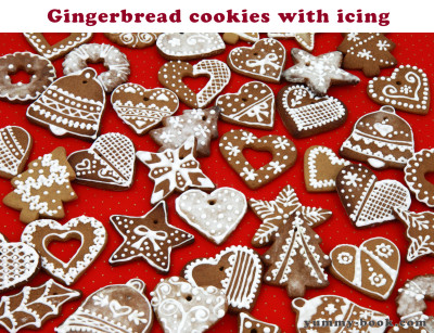 gingerbread cookies and icing