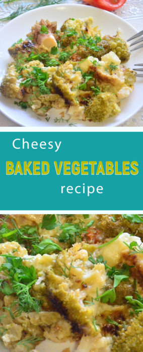 Vegetables baked with cheese recipe