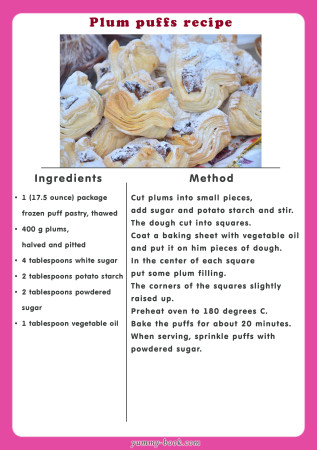 plum puffs recipe