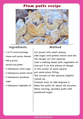plum puffs recipe