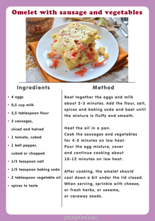 omelet sausage recipe