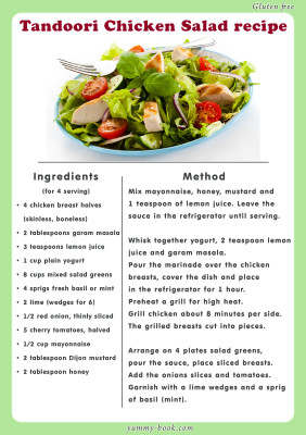 Tandoori Chicken Salad recipe