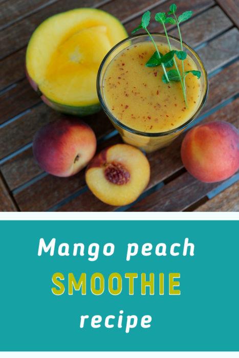 mango peach smoothie with milk