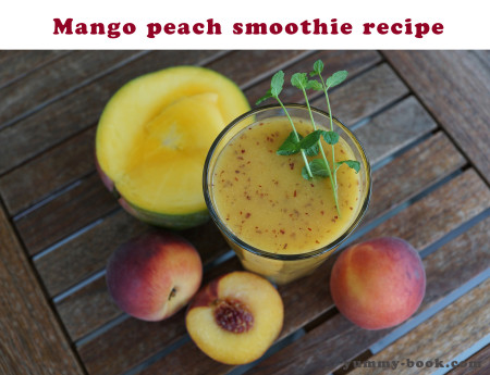 mango peach smoothie with milk