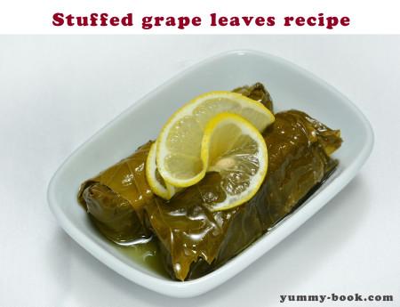 a recipe for stuffed grape leaves