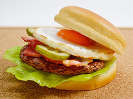 Hamburger recipe with egg and bacon