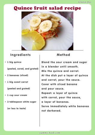 quince salad recipe