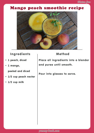 mango peach smoothie recipe