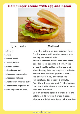 hamburger recipe with egg