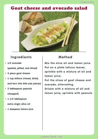goat cheese and avocado salad recipe