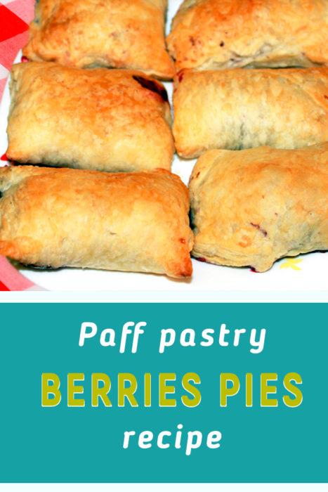 Puff pastry berries pies recipe