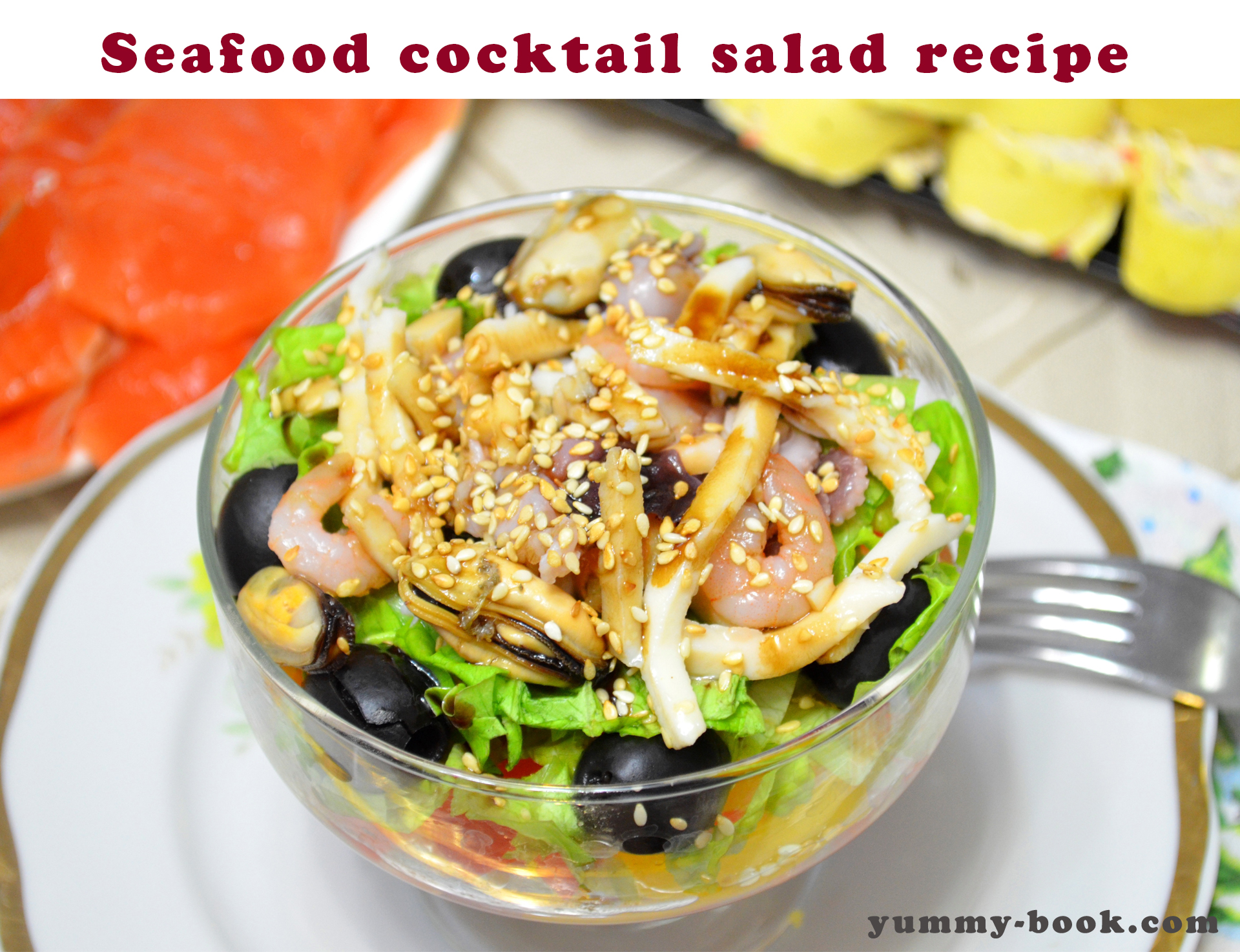 Salad of squid and crab sticks, recipe for gourmets