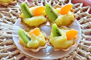 No bake fruit tarts recipe with custard filling
