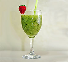 Kiwi smoothie recipe with milk