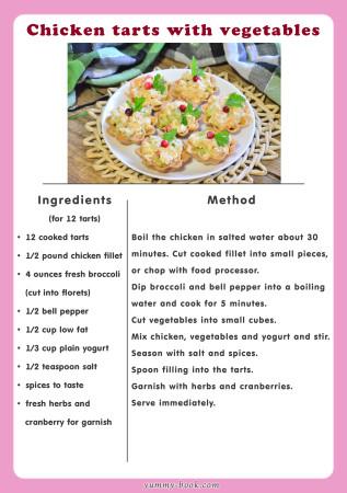 chicken tarts recipe