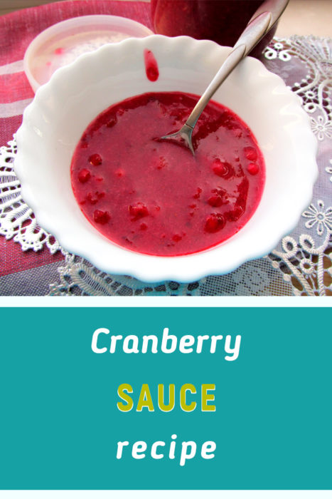 homemade cranberry sauce recipe