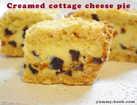 sweet cottage cheese pie recipe
