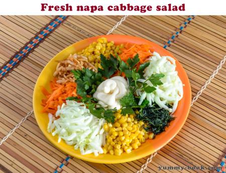 raw napa cabbage salad recipe