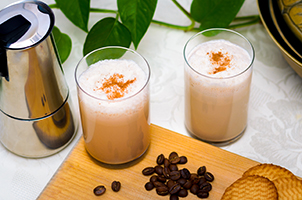 Сoffee milkshake recipe for 2 minutes