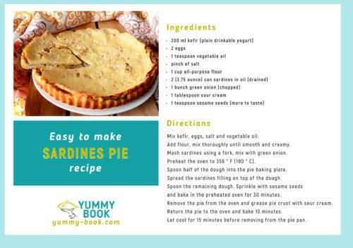 easy sardines pie recipe
