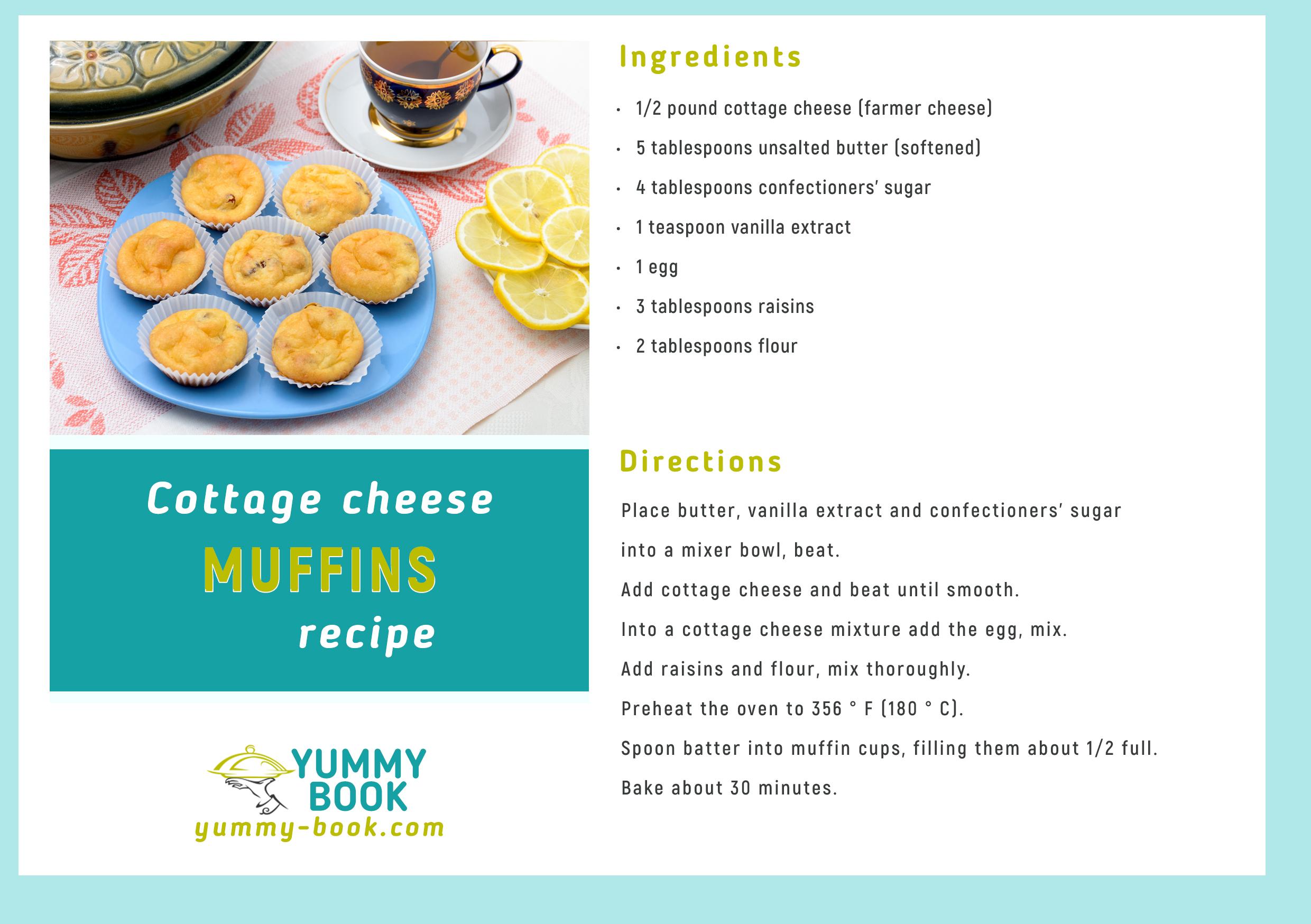Cottage Cheese Muffins Recipe Yummy Book
