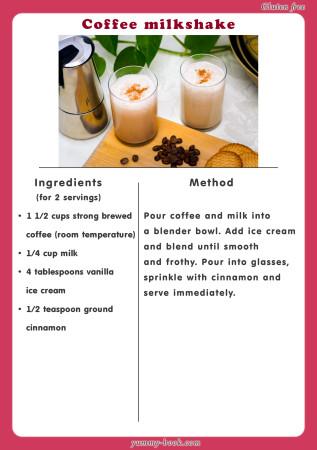 Сoffee milkshake recipe