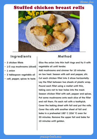 stuffed chicken breast rolls recipe