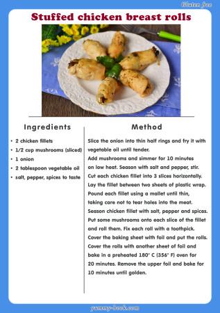 stuffed chicken breast rolls recipe