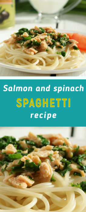 Salmon pasta with spinach recipe