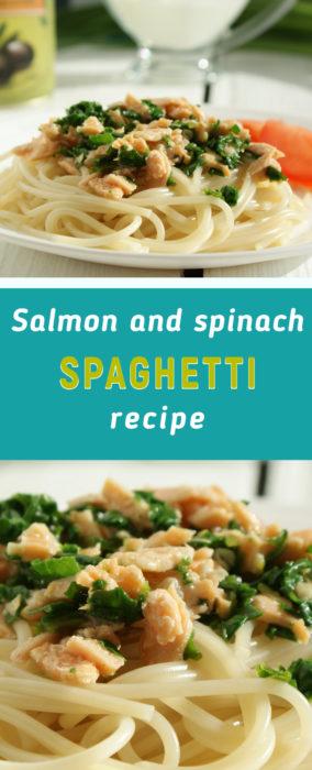 Salmon pasta with spinach recipe
