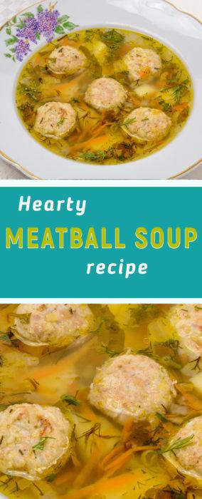 Gluten free meatball soup recipe
