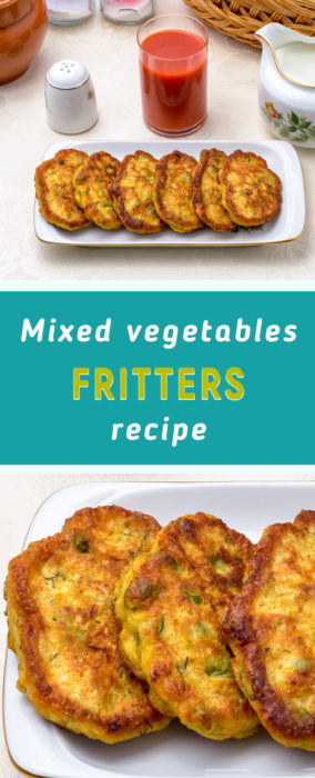Carrot and zucchini fritters recipe