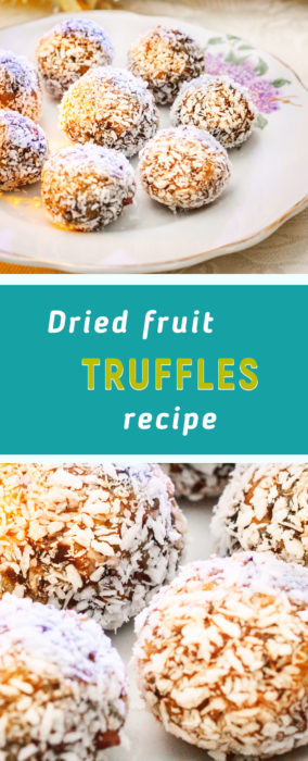 Dried fruit truffles recipe