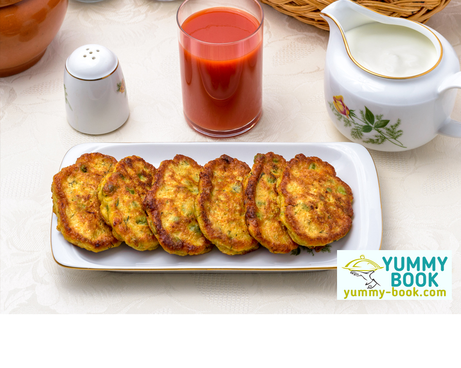 Mixed vegetable fritters recipe
