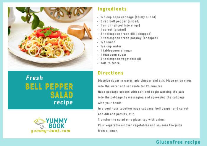 Fresh bell pepper salad recipe