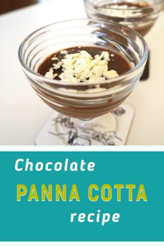 Chocolate and vanilla panna cotta recipe
