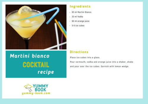 Martini bianco cocktail recipe