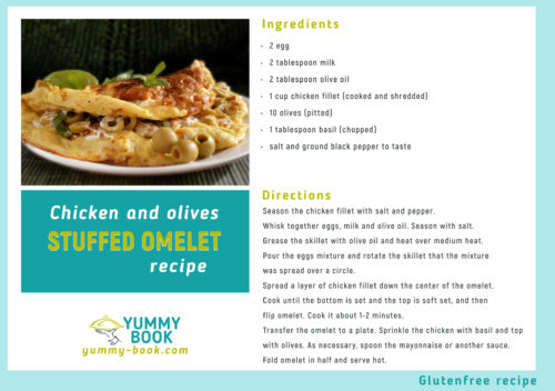 Chicken stuffed omelette recipe
