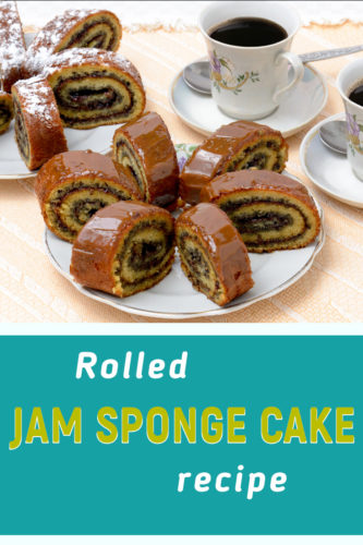 Jam filled sponge cake recipe