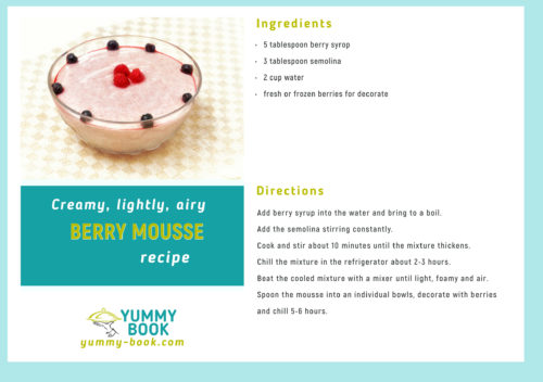 Berry mousse recipe