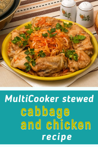 Stewed cabbage and chicken recipe in multicooker