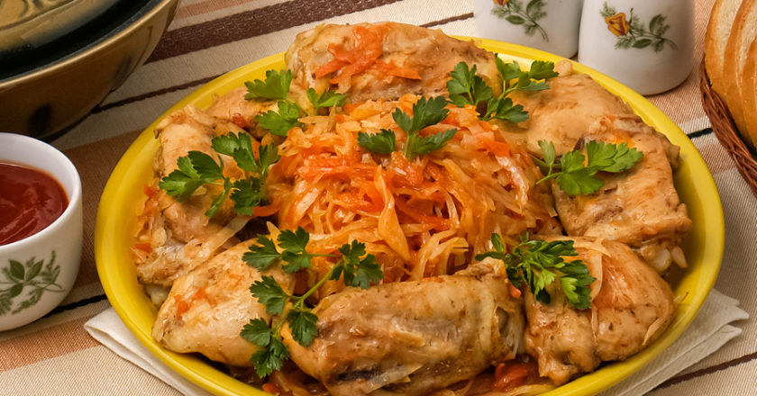 Cabbage and chicken recipe in MultiCooker
