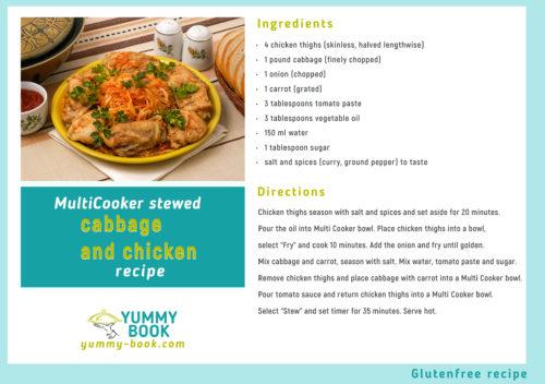 Сabbage chicken stew recipe