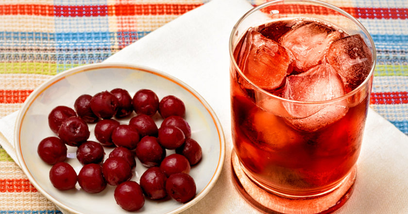Cherry iced green tea recipe