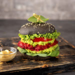 Beetroot and avocado vegetarian burger recipe