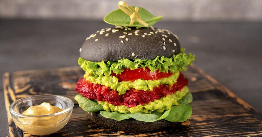 Beetroot and avocado vegetarian burger recipe