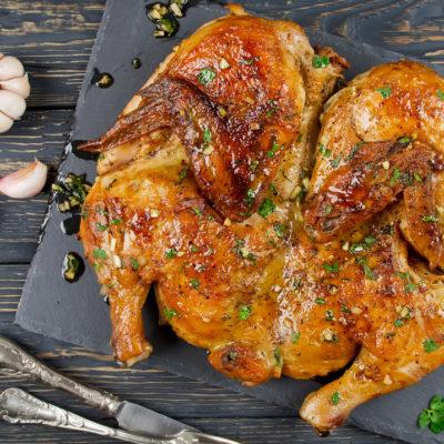 Crispy golden skin chicken tabaca recipe